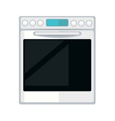 white modern stove vector image vector image