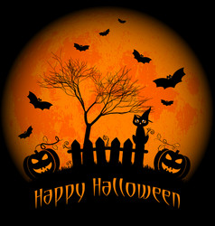 Wishes for happy halloween trick or treat vector