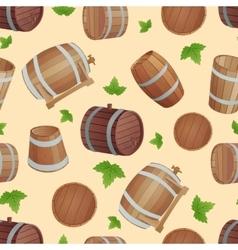 Wooden barrels set vector