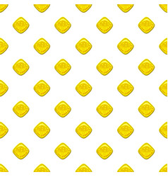 Yellow candie pattern vector