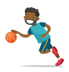 young black playing basketball vector image