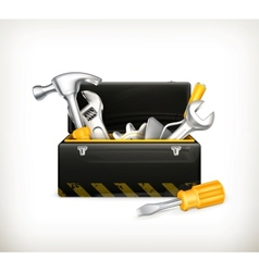 Black toolbox vector image vector image