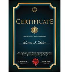 Blue Certificate template vector image