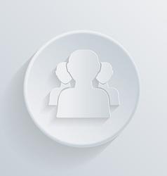 Circle icon silhouette of a men social media vector