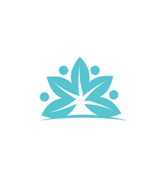 health life spa and yoga vector image