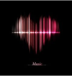 Love of music vector image vector image