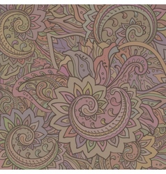 pattern of the indian floral ornament with vector image vector image