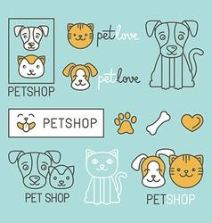 Pet logo design elements vector image vector image