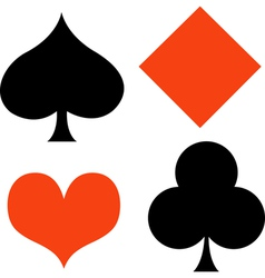 Poker Card Suites vector image vector image