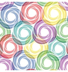 seamless vivid swirl pattern vector image vector image