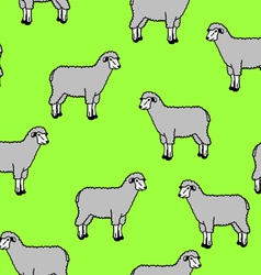 seamless wallpaper with sheep and rams vector image