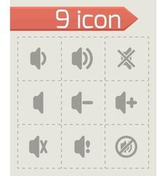 speaker icon set vector image