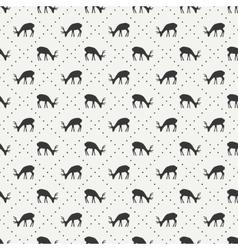 Tribal ethnic seamless pattern with deer Reindeer vector image