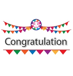 Congratulation on white background vector image