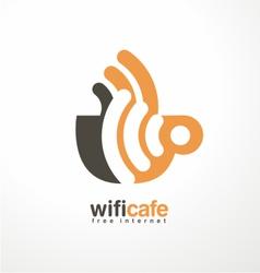 Creative logo design template for cafe vector image