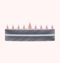 flat shading style icon cream cake vector image