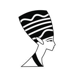Head of Nefertiti icon simple style vector image