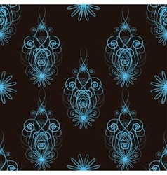 Seamless floral abstract pattern vector image