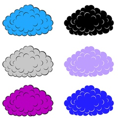 Set of colorful clouds vector image vector image