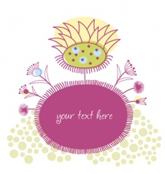 stylized floral frame vector image vector image