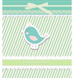 Vintage doodle bird for frame wallpaper vector image