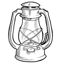 doodle lantern vector image vector image