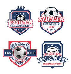 icons for soccer championship cup vector image