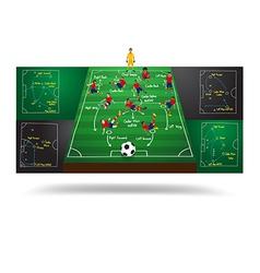 Spanish national team soccer football player vector image