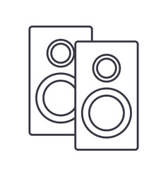 speakers line icon sign on vector image vector image
