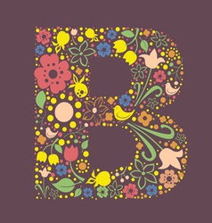 B letter color variant vector image vector image