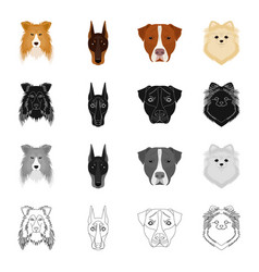 dog animal home and other web icon in cartoon vector image vector image