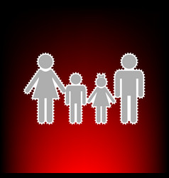 family style on vector image