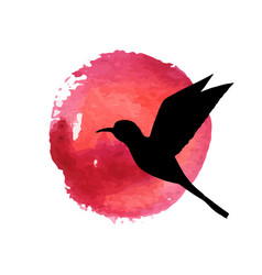 flying bird silhouette vector image