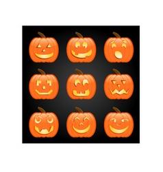Jack-o-lanterns vector image vector image