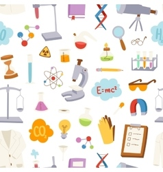 Laboratory icons pattern vector image vector image