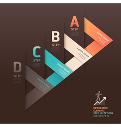 Modern arrow step options origami style vector image vector image