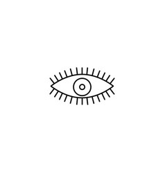 opened eye icon vector image vector image