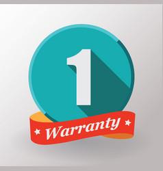 1 warranty label vector