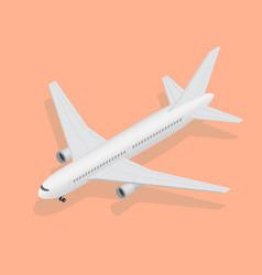 3d isometric plane high quality transport flight vector image