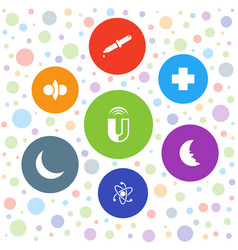 7 science icons vector