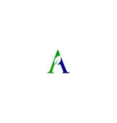 a letter leaf logo vector image