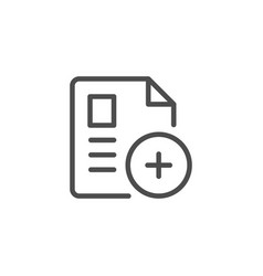 add document line icon vector image