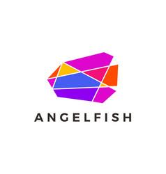 angel fish geometric polygonal colorful logo icon vector image