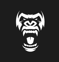 Angry gorilla symbol vector