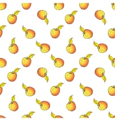 Apple seamless pattern Hand drawn vector