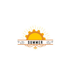 badge as part of the design - sun and summer vector image