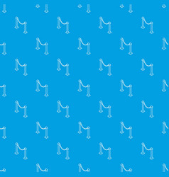 Barrier rope pattern seamless blue vector