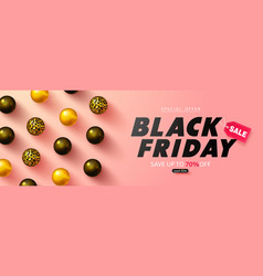 black friday sale banner luxury background with vector image