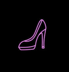 black icon fashionable womens high heel shoes vector image