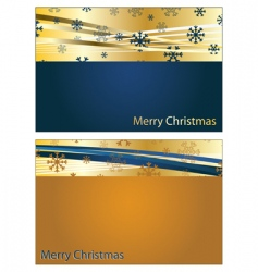 blue and gold Christmas banners vector image vector image